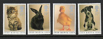 GB 1990 150th Anniversary RSPCA unmounted mint set stamps