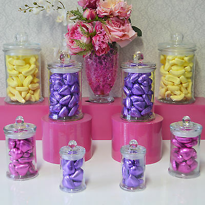 Lolly Jars Candy Buffet 8 x Jars SWEETS set Party Apothecary Jars