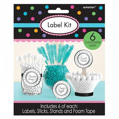 Lolly Jar TAG LABELS KIT set of 6 .. Lolly Buffet Tags
