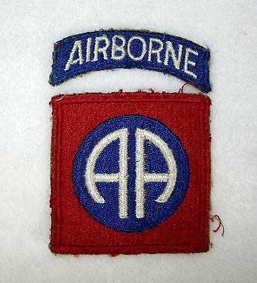 Original Vintage WWII US Army 82nd Airborne Division Patch w/ Tab Cut Edge