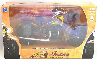 1934 Indian Sport Scout 1:12 Diecast Motorcycle Model