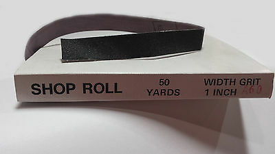 "1"" x 50 YD Aluminum Oxide Emery Cloth Sandpaper Shop Roll – Metals  - 60 Grit"