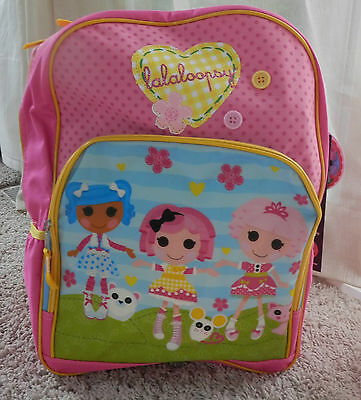 "LALALOOPSY *Friends* 16"" Pink Backpack School Book Bag NWT sold out!"