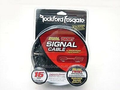 New Rockford Fosgate RFIT-16 16' FT RCA Cable Wire 2 Channel Twisted Pair