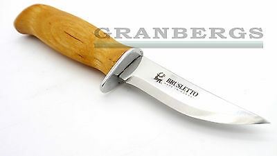 Brusletto Speiderkniv Hunting Knife Curly Birch Handle Sandvik Steel Norwegian