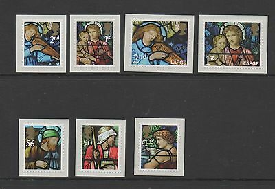 GB 2009 Christmas Self adhesives unmounted mint set stamps