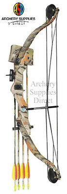 "ASD Typhoon Archery Youth Camo Compound Bow & Arrow Set Fully Adj 23-28"" 21-29Lb"