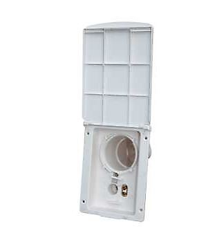Filtapac Caravan Water Inlet Housing & Filter - IVORY (Carver Replacemet) FL105