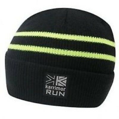Bnwt Karrimor Run Running Reflective Hat Black/neon Osfa