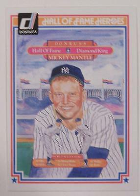 1983 DONRUSS HALL OF FAME HEROES MICKEY MANTLE #43   A1655