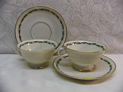FRANCISCAN CHINA*ARCADIA GREEN*TWO CUP & SAUCER SETS