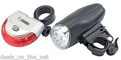 Draper Front And Rear LED Bicycle Light Set With Mounting Brackets Bike Light