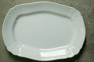 "Johnson Brothers White English Ironstone 13"" Chelsea Oval Serving Platter 1890's"
