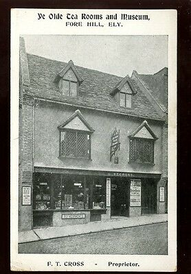 Cambs Cambridgeshire ELY Fore Hill Tea Rooms Museum prop FT Cross advert  PPC