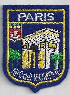 SOUVENIR PATCH PARIS FRANCE - ARC DE TRIOMPHE