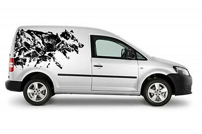 Siberian Husky Pack  Decal Sled Dogs Huskies Dog Sibe Car Van Decal Sticker