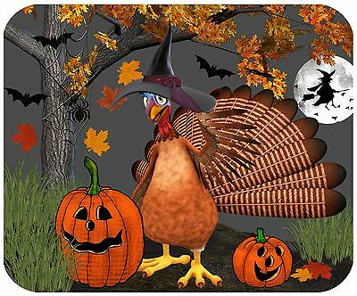 Mouse Pad Custom Thick Mousepad-Halloween Turkey-Personalize With Any Text