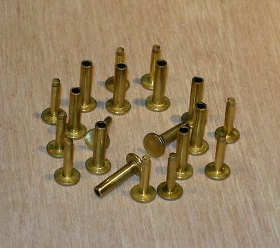 Cutlers Rivets - Brass - French Made - 6 x 8mm - 10 sets - H0090