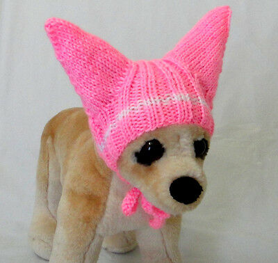 Pet Clothes Apparel Outfit Crochet Handmade Knit Hat for Small Dog XS