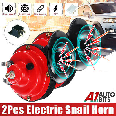 12V New Loud Air Horn Set Dual Tone Car Van Boat Siren Twin Lorry Horns