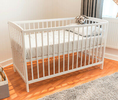 Brand New Pine Cot Bed 120x60 Junior Bed & Cotbed Free Mattress