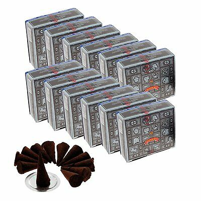 Original Satya Sai Baba Nag Champa Super Hit Dhoop Cones Box of 12 with Stand
