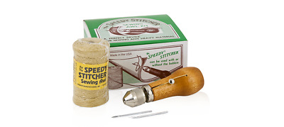SPEEDY STITCHER Sewing Awl Repair Tool three piece Kit  made in the US