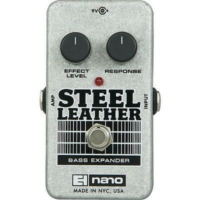 Electro-Harmonix Nano Steel Leather Bass Expander Guitar Effects Pedal