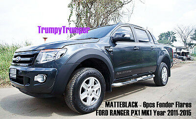Matte Black Fender Flares Wheel Arch For Ford Ranger Px Xlt Xl T6 2012 2013 2014