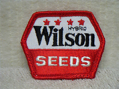 WILSON SEEDS - WILSON HYBRID SEEDS - VINTAGE  SEW ON PATCH