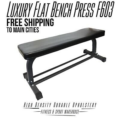 NEW Heavy Duty Luxury Flat Bench Press F603 Fitness Gym Exercise Equipment Gear