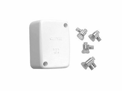5 x GENUINE Clipsal 554J4 Large Junction Box 40A 500V White Electrical