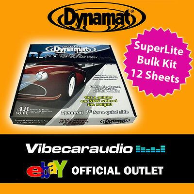 Dynamat Superlite Sound Proofing Dampening Deadening Bulk Kit x 12 Sheets NEW