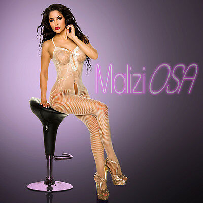 CATSUIT Bodystocking Aperta Ouvert SEXY Hot Lingerie Body Tutina Beige