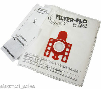 Compatible Miele Fjm Dust Bags 5 Pack And 2 Filters