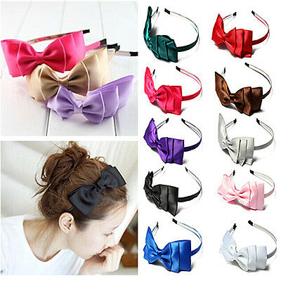 Sweet Women Girls Ribbon Multilayer Bowknot Bow Headband Hair Accessories Band