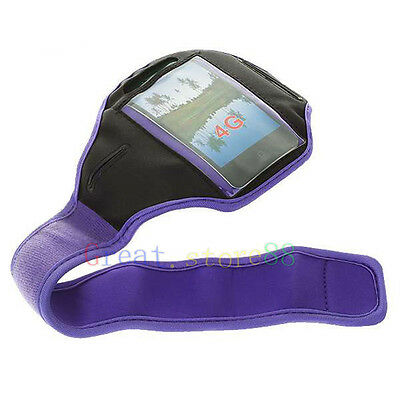 Purple Running Sport Armband GYM Skin Case Cover FOR Apple iphone ipod itouch AU