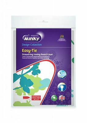 Minky Drawstring Easy Tie Ironing Board Cover To Fit Boards 122 X 38cm Assorted
