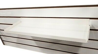 "Slatwall Heavy Duty Steel Metal Shelf Ivory 15.5"" L RX - 5 Pieces"