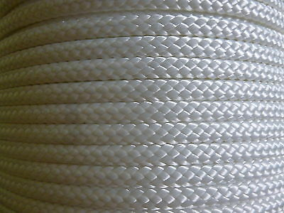 "800 ft.1/4"" hollow braid polyester rope. white. USA"
