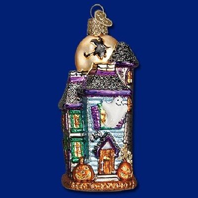 """Haunted House"" (26067) Old World Christmas Glass Ornament"