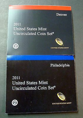 2011-P+D New 28 Coin Uncirculated Mint Set Ships To You In Sealed Shipping Box