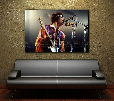 Jimi Hendrix Poster Size Photo 20x30 in '60s Live Concert Ltd Edition Print 11-2
