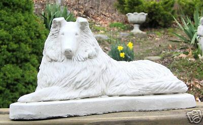 CONCRETE COLLIE DOG STATUE OR USE AS A  MONUMENT