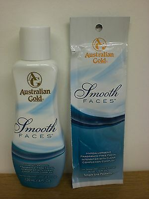 Australian Gold Smooth Faces Hypoallergenic Sunbed Tanning Facial Cream Lotion