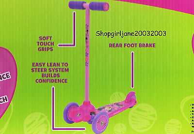 Minnie Mouse - Lean & Glide Scooter - 3 wheels - Brand new in box