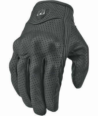 Black Motorcycle Mountain Bike Scooter Riding Armor Protective Leather Gloves