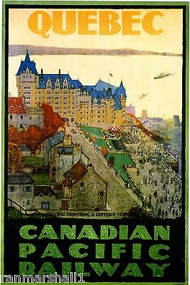 1946 Montreal Vintage Canada Canadian Pacific Travel Advertisement Art Poster