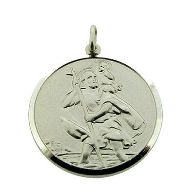 Solid 925 Sterling Silver St Christopher Pendant Various Sizes Engraving Options