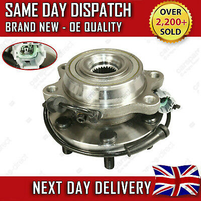 FRONT WHEEL BEARING HUB WITH SENSOR +ABS FIT FOR NISSAN NAVARA D40 2.5 dCi 05 ON